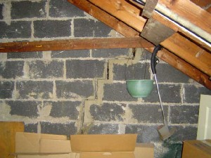 Crack in attic wall