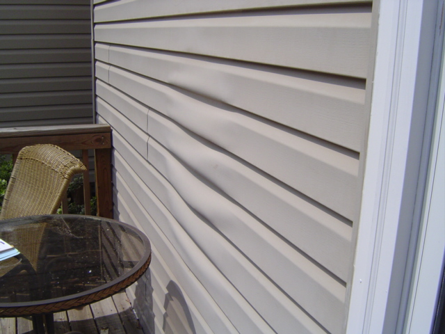 Melted Vinyl Siding
