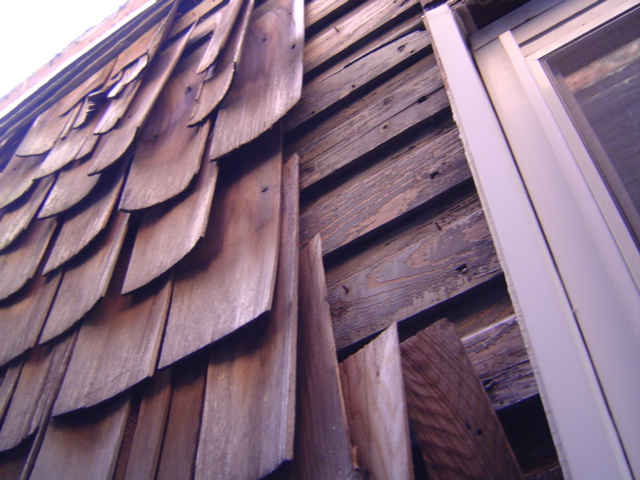 Missing Wood Shake Siding